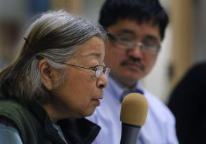 Jeannie Wong describes her struggle with suicidal thoughts as Benny Wong (no relation) listens at Stepping Stone Adult Day Health. Asian American women 65 and older had a higher suicide rate than any other racial or ethnic group between 2004 and 2007. Photo: Paul Chinn, The Chronicle