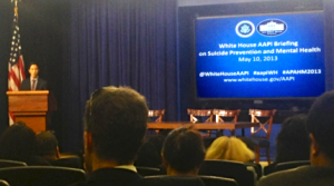 The White House Initiative on Asian Americans and Pacific Islanders (WHIAAPI) and the White House Office of Public Engagement Briefing on Suicide Prevention and Mental Health, May 10, 2013 (Photo by WHIAAPI).