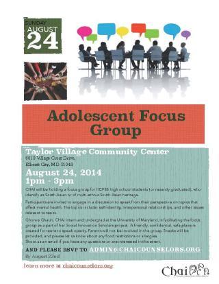 Adolescent Focus Group