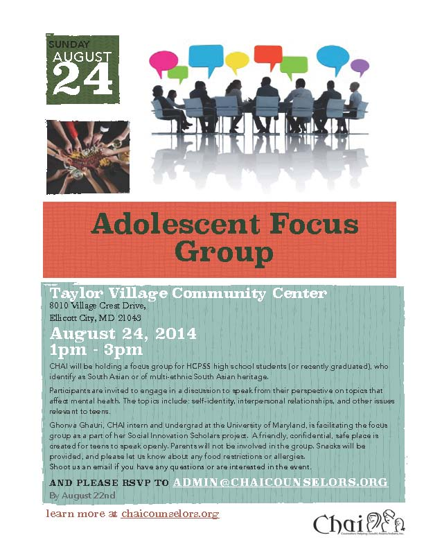 Adolescent Focus Group